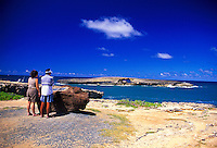 The Kukuihoolua sea arch, located on the windward coast of Oahu in the town of Laie, is a protected sea bird sanctuary. It can be seen as you drive along the scenic coast of oahu.