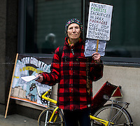 """23.04.2014 - """"No to Coal and No to Biomass!"""" - Protest at Drax AGM"""