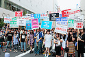 Japanese protest new security bills as government plans to push them through
