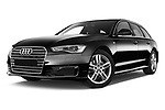 Stock pictures of low aggressive front three quarter view of 2015 Audi A6 S Line 5 Door Wagon