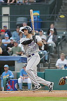 Winston-Salem Dash outfielder Nick Basto (23) at bat during a game against the Myrtle Beach Pelicans at Ticketreturn.com Field at Pelicans Ballpark on April 23, 2015 in Myrtle Beach, South Carolina.  Myrtle Beach defeated Winston-Salem  6-0. (Robert Gurganus/Four Seam Images)