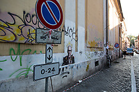 """Roma, 07/07/20. On the 6th July 2020 the Maestro Ennio Morricone died in Rome aged 91. To mark the death of the Italian composer, orchestrator, conductor, trumpet player, songwriter, Ennio Morricone, the street Artist Harry Greb (1.) realised in Trastevere (District where the Maestro lived since 1953) a Graffiti/Stencil/Poster called: """"Il Maestro"""".<br /> Ennio Morricone «[…] composed over 500 scores for cinema and TV, as well as over 100 classical works. His score to The Good, the Bad and the Ugly (1966) is considered one of the most influential soundtracks in history and was inducted into the Grammy Hall of Fame. His filmography includes over 70 award-winning films, all Sergio Leone's films since A Fistful of Dollars [Spaghetti Western, ndr], all Giuseppe Tornatore's films since Cinema Paradiso, [Gillo Pontecorvo's film, ndr] The Battle of Algiers, Dario Argento's Animal Trilogy, 1900, Exorcist II, Days of Heaven, several major films in French cinema, in particular the comedy trilogy La Cage aux Folles I, II, III and Le Professionnel, as well as The Thing, Once Upon a Time in America, The Mission, The Untouchables, Mission to Mars, Bugsy, Disclosure, In the Line of Fire, Bulworth, Ripley's Game and The Hateful Eight […]» (2.).<br /> «[…] If ever a name was synonymous with movie soundtracks, it was Ennio Morricone. Although it took the Hollywood film industry until 2007 to reward Morricone, who has died aged 91, with an honorary Academy Award, after he had been nominated on five separate occasions without winning an Oscar, his scores for The Good, the Bad and the Ugly (1966), Once Upon a Time in the West (1968) and The Mission (1986) are among the best-known and most accomplished ever written. In 2016 he won the Oscar for best original score for his work on Quentin Tarantino's The Hateful Eight […]» (3.).<br /> <br /> Footnotes & Links:<br /> 1. https://harrygrebdesign.com/<br /> 2. (Wikipedia.org ENG) http://bit.do/fGtBz<br /> 3. (TheGuardian.com) http://bit.do/fGt"""