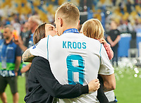 Jessica Farber, wife of  Toni KROOS, Real Madrid 8  REAL MADRID - FC LIVERPOOL<br /> Football UEFA Champions League, Finale, Kiew, Ukraine, May 26, 2018<br /> CL Season 2017 2018<br />  <br />  *** Local Caption *** © pixathlon<br /> Contact: +49-40-22 63 02 60 , info@pixathlon.de