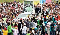 VILLAVICENCIO -COLOMBIA , 8- 09-2017.Llegada del Papa Francisco a la capital del  llano colombiana./Arrival of Pope Francisco to the capital of the Colombian plain Photo: VizzorImage / Cristian Álvarez / Contribuidor