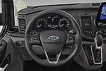 Car pictures of steering wheel view of a 2021 Ford Transit-Custom-Kombi Trend 5 Door Combi Steering Wheel