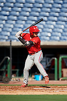 Philadelphia Phillies Ben Akilinski (25) at bat during a Florida Instructional League game against the New York Yankees on October 12, 2018 at Spectrum Field in Clearwater, Florida.  (Mike Janes/Four Seam Images)