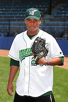 Jamestown Jammers Rodolfo Encarnacion poses for a photo before a NY-Penn League game at Russell Diethrick Park on July 1, 2006 in Jamestown, New York.  (Mike Janes/Four Seam Images)
