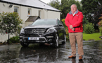 Mercedes owner Allan Christopher at his home in Kittle, near Swansea, south Wales