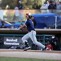 Raffy Velazquez plays in the annual Baseball Generations Showcase at San Manuel Stadium on November 14, 2020 in San Bernardino, California (Bill Mitchell)