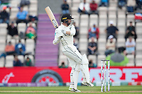 Devon Conway, New Zealand pulls a short delivery behind square during India vs New Zealand, ICC World Test Championship Final Cricket at The Hampshire Bowl on 20th June 2021