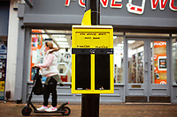 BNPS.co.uk (01202 558833)<br /> Pic: Hubbub/BNPS<br /> <br /> Pictured: A ballot bin in Bournemouth.<br /> <br /> Litter dropped in Britain's most popular seaside resort reduced by 75 per cent this summer thanks to a new project using drone technology. <br /> <br /> The first-of-its kind survey identified alarming litter patterns along Bournemouth beach in Dorset with a staggering 123,000 bits of litter discarded in just one week.<br /> <br /> The data was then used to target the worst areas with strategic bin placement.
