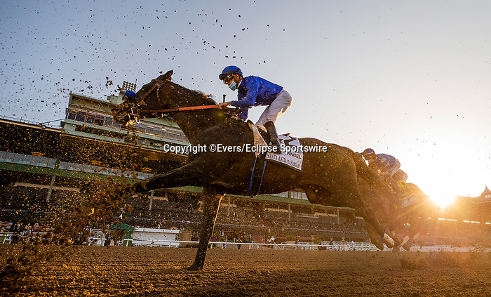 March 06, 2021: Maxfield and Florent Geroux at the Santa Anita Handicap at Santa Anita Park in Arcadia, California on March 06, 2021. Evers/Eclipse Sportswire/CSM