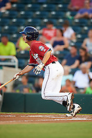 Fort Myers Miracle second baseman Ryan Walker (16) at bat during a game against the Daytona Tortugas on June 17, 2015 at Hammond Stadium in Fort Myers, Florida.  Fort Myers defeated Daytona 9-5.  (Mike Janes/Four Seam Images)