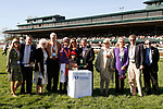 LEXINGTON, KY - April 08, 2017, Winners presentation for #7 Sailor's Valentine and jockey Corey Lanerie after winning the 80th running of the Central Bank Ashland Grade 1 $500,000 for owner Semaphore Racing and Homewrecker Racing and trainer Eddie Kenneally at Keeneland Race Course.  Lexington, Kentucky. (Photo by Candice Chavez/Eclipse Sportswire/Getty Images)