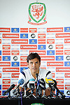 Welsh Football press conference with Manager Chris Coleman at the St David;s Hotel in Cardiff today ahead of their international.
