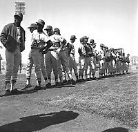 Joueurs des Cards au Match des Expos, le 14 avril 1969, <br /> au Parc Jarry