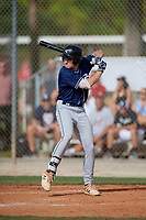 Connor Bradshaw (24) during the WWBA World Championship at the Roger Dean Complex on October 10, 2019 in Jupiter, Florida.  Connor Bradshaw attends Trinity-Pawling High School in New Rochelle, NY and is committed to Pepperdine.  (Mike Janes/Four Seam Images)