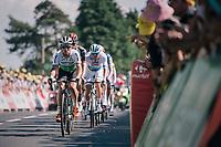 Mark Cavendish  (GBR/Dimension Data) up the Mûr de Bretagne<br /> <br /> Stage 6: Brest > Mûr de Bretagne / Guerlédan (181km)<br /> <br /> 105th Tour de France 2018<br /> ©kramon