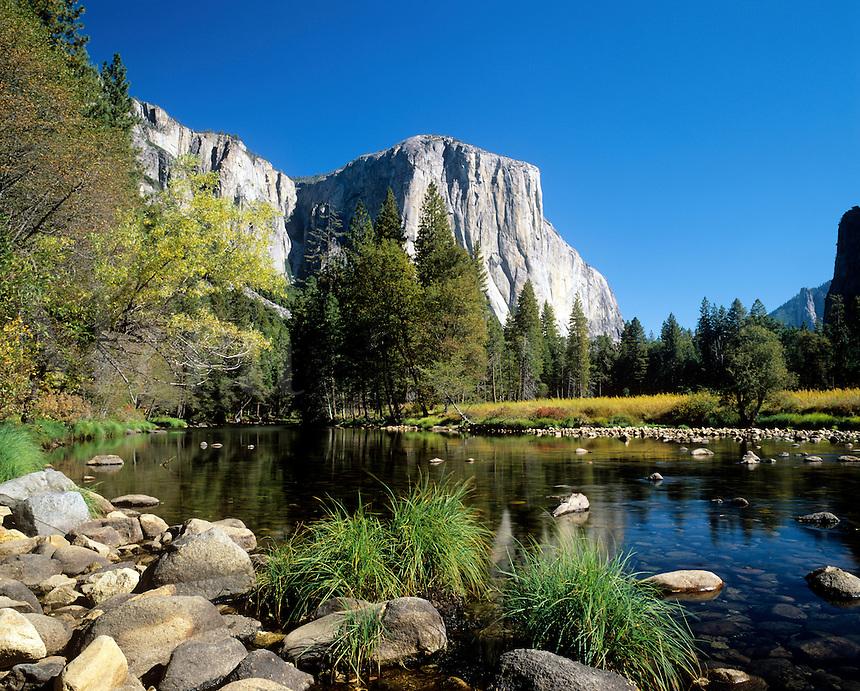 Merced River and El Capitan Yosemite Valley National Park California