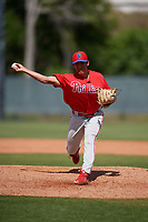 Philadelphia Phillies pitcher Michael Gomez (60) during a Minor League Spring Training game against the Toronto Blue Jays on March 29, 2019 at the Carpenter Complex in Clearwater, Florida.  (Mike Janes/Four Seam Images)