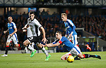 Lee Wallace tumbles in the box