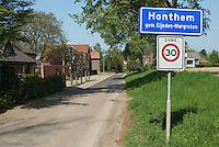 Gemeente bord, buurtschap Honthem