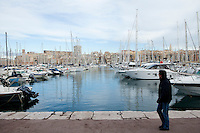 The Old Port of Marseille, France, 04 February 2013