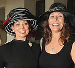 Danielle Ellis and Cathy Brock at the Hermann Park Conservancy Hat Party Tuesday March 9,2010. (Dave Rossman Photo)
