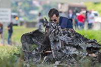 SÃO PAULO, SP, 11.02.2019: QUEDA DE HELICÓPTERO RODOVIA ANHANGUERA -SP- Helicóptero que transportava o jornalista Ricardo Boechat, caiu em cima de um caminhão na Rodovia Anhanguera KM 7, em São Paulo, SP, nesta segunda-feira (11). (Foto: Marivaldo Oliveira/Código19)