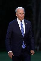 Joe Biden returns from Michigan