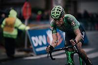 Tim Merlier (BEL/Crelan-Charles)<br /> <br /> men's race<br /> Soudal Jaarmarktcross Niel 2018 (BEL)