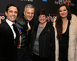 "Christopher Gattelli and Stephen Bienskie with family attends the Broadway Opening Night Performance of ""The Cher Show""  at the Neil Simon Theatre on December 3, 2018 in New York City."