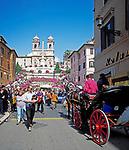 ITA, Italien, Lazio, Rom: Via Condotti, Spanische Treppe und Kirche Trinita dei Monti | ITA, Italy, Lazio, Rome: Via Condotti, Spanish Steps and church Trinita dei Monti