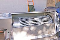 The 'egrappoir' - destemming machine - opened up - Chateau La Grave Figeac, Saint Emilion, Bordeaux