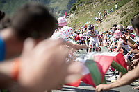 Fabio Aru (ITA/UAE-Emirates) up the Tourmalet (HC/2115m/19km @7.4%)<br /> <br /> Stage 14: Tarbes to Tourmalet(117km)<br /> 106th Tour de France 2019 (2.UWT)<br /> <br /> ©kramon