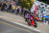 Damon Rees on his way to winning Formula One race one. The 2020 Suzuki International Series Cemetery Circuit motorcycle raceday at Cooks Gardens in Wanganui, New Zealand on Saturday, 26 December 2020. Photo: Dave Lintott / lintottphoto.co.nz