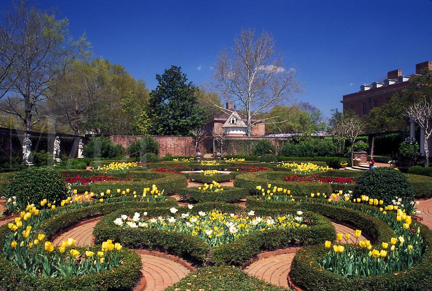 New Bern, garden, NC, North Carolina, Gardens of Tyron Palace at Tyron Palace Historic Sites and Gardens in New Bern.