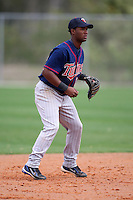 March 18, 2010:  Shortstop Daniel Santana (12) of the Minnesota Twins organization during Spring Training at the Ft. Myers Training Complex in Ft. Myers, FL.  Photo By Mike Janes/Four Seam Images