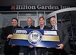 Derek Johnstone, Mark Hateley, Richard Gough and Colin Jackson at the Hilton Garden Inn, Glasgow to kick off the 140 year celebrations