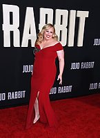 "LOS ANGELES, USA. October 15, 2019: Rebel Wilson at the premiere of ""JoJo Rabbit"" at the Hollywood American Legion.<br /> Picture: Paul Smith/Featureflash"