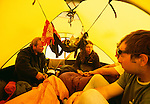 Camp on the Patagonian icecap, Los Glaciares National Park, Argentina