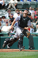 Harrisburg Senators catcher Brian Jeroloman (15) during game against the Trenton Thunder at ARM & HAMMER Park on July 31, 2013 in Trenton, NJ.  Harrisburg defeated Trenton 5-3.  (Tomasso DeRosa/Four Seam Images)