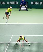 Februari 15, 2015, Netherlands, Rotterdam, Ahoy, ABN AMRO World Tennis Tournament, Jean-Julien Rojer (NED) / Horia Tegau (ROU) - Jamie Murray (GBR) / John Peers (AUS)<br /> Photo: Tennisimages/Henk Koster