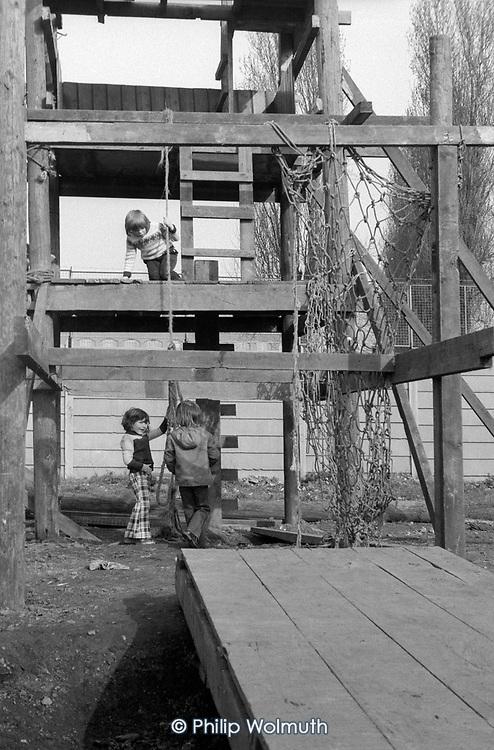 Horniman's Adventure Playground, North Kensington, 1975.