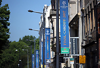 Pictured: UEFA Champions League banners on Westgate Street Thursday 25 May 2017<br />