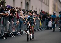 promising young escort at the Team presentation in La Roche-sur-Yon<br /> <br /> Le Grand Départ 2018<br /> 105th Tour de France 2018<br /> ©kramon