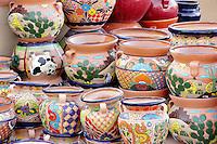 Colorful pots for sale. Tubac. Arizona