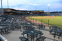 Photo from Opening Night 2021 at Segra Park, home of the Low-A East Columbia Fireflies on Tuesday, May 11, 2021, at Segra Park in Columbia, South Carolina. New netting has been put up in front of the right amd left field stands this year. (Tom Priddy/Four Seam Images)