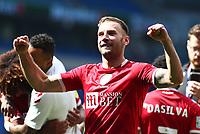28th August 2021; Cardiff City Stadium, Cardiff, Wales;  EFL Championship football, Cardiff versus Bristol City; Andreas Weimann of Bristol City celebrates the 1-2 win