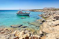 A fishing boat near Diakofti in Karpathos, Greece